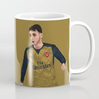 arsenal Mugs featuring Mesut Özil by siddick49