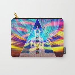 Rainbow Rays 7 Chakra Healing Meditation Carry-All Pouch