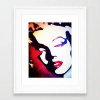monroe Framed Art Prints featuring monroe  by Joedunnz