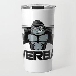 Strong monkey cartoon Travel Mug