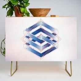 Indigo Hexagon :: Floating Geometry Credenza