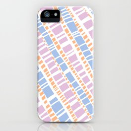 Delicate Pastel Lines Pattern iPhone Case