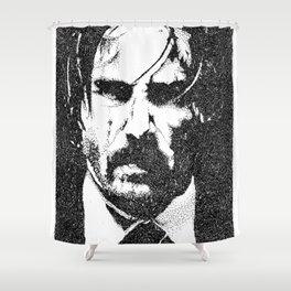 John Wick (Sketchy Reputation / Jeff Gross) Shower Curtain