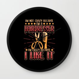 Hairdresser Haircut Stylist Hair Barber Job Wall Clock