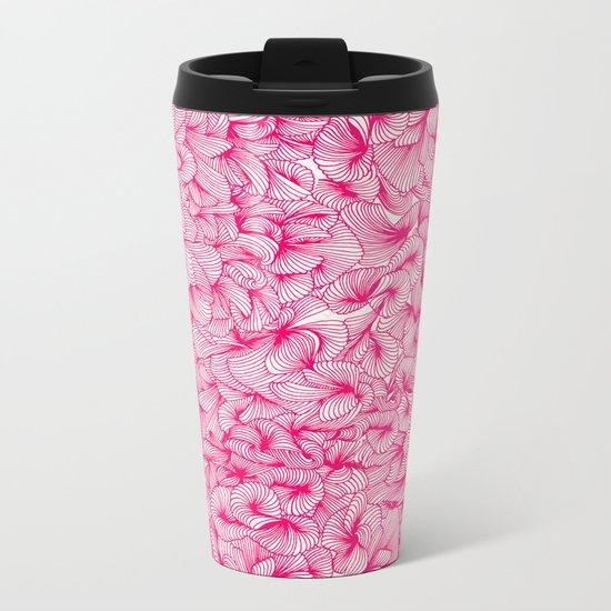 Pink Inklings Metal Travel Mug
