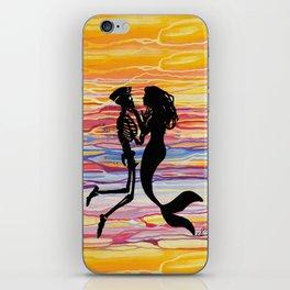 Skeleton Meets Mermaid iPhone Skin
