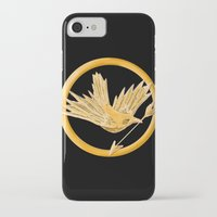 mockingjay iPhone & iPod Cases featuring Mockingjay by AriesNamarie
