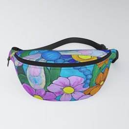 Springtime Series #1 Dragonfly coloured wings Fanny Pack