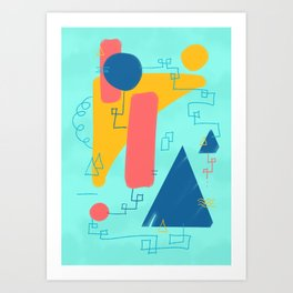 Big Wave Beachwear Supply Co Art Print