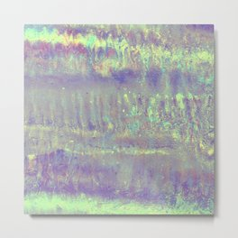 Mermaid metallic Metal Print