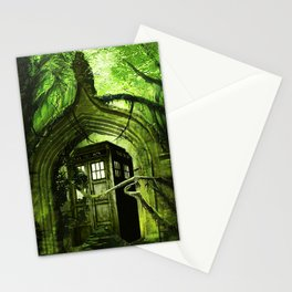 Tardis in the forest Stationery Cards