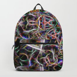 Abstract textured mandala Backpack