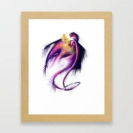 Nebula Dragon Framed Art Print