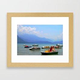 let it slide Framed Art Print