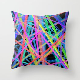 Colorful Rainbow Prism Throw Pillow