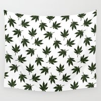cannabis Wall Tapestries featuring Cannabis by WeedPornDaily