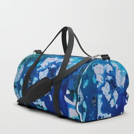 Orca Whale Marvels at the Melting Ice, Environmental # 4 Duffle Bag