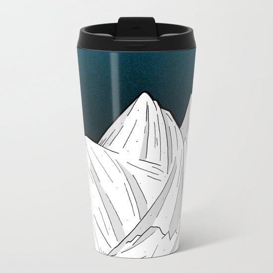 The deep blue moon Metal Travel Mug