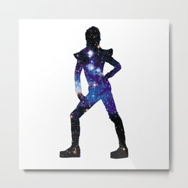 Ziggy Black Space Metal Print