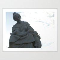 Statue in Granada, Nicaragua  Art Print
