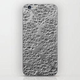 Damaged silver iPhone Skin