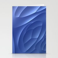 dune Stationery Cards featuring Blue Dune by Lyle Hatch