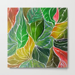 Dancing leaves Metal Print