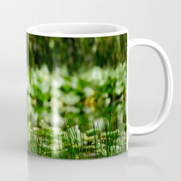 Great Egret in a Green Field Coffee Mug