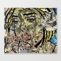 lichtenstein Canvas Prints featuring I LOVE LICHTENSTEIN POLLOCK by JANUARY FROST