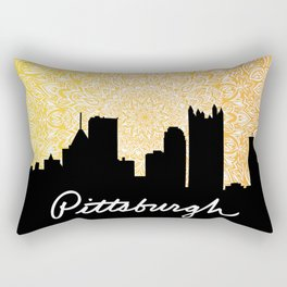 Pittsburgh Mandala Sunset Rectangular Pillow