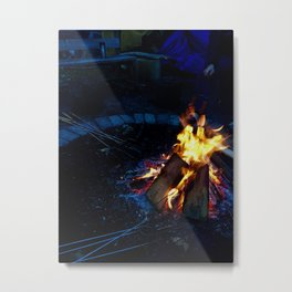 Canadian Campfire Metal Print