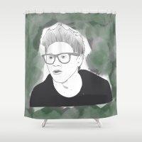irish Shower Curtains featuring Irish King by gustinobrien