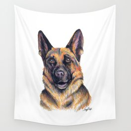 German Shepard - Dog Portrait Wall Tapestry