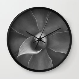Agave Plant. Madeira nature, Portugal. Black and White Fine Art Travel Print. Wall Art. Wall Clock