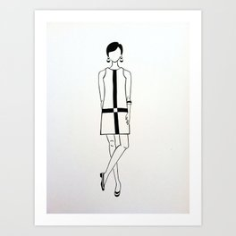 1960's Mod Fashion 1 Art Print
