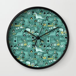 Communication Dinosaurs Wall Clock