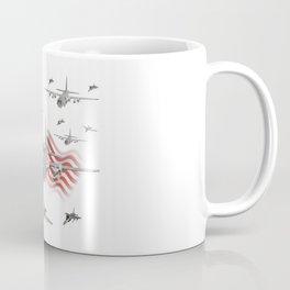 American Air Force Armada AC130 F22 F16 A10 Coffee Mug