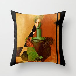 LucreziaV.3-Bronzino. Throw Pillow