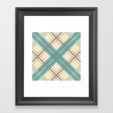 Teal Pastel Plaid Framed Art Print