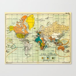 Map of the old world Canvas Print