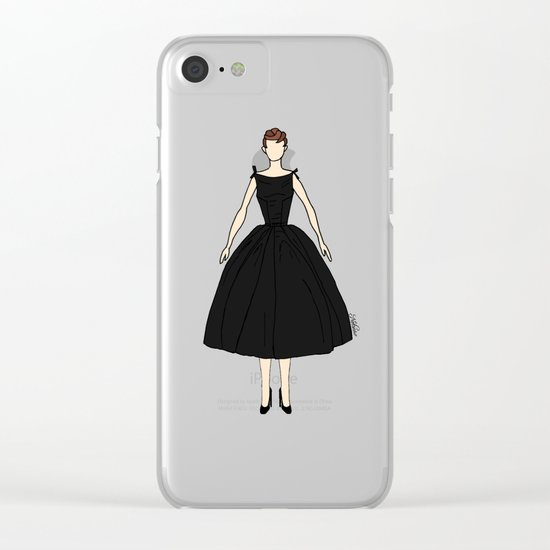 Audrey Hepburn Vintage Retro Fashion 1 Clear iPhone Case
