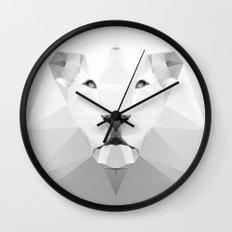 Lion - White Geo Series 2013 Wall Clock