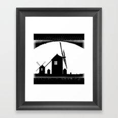 Windmill At Dusk Framed Art Print