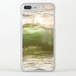 Green light water surf Clear iPhone Case