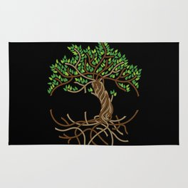 Rope Tree of Life. Rope Dojo 2017 black background Rug