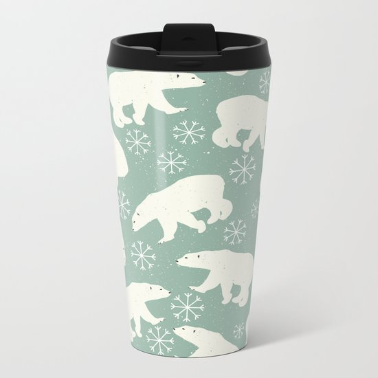 Merry Christmas - Polar bear - Animal pattern Metal Travel Mug