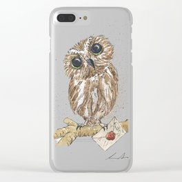 Owl Letter For You Clear iPhone Case