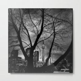 CN Tower Through a Bare Tree Metal Print