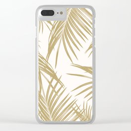 Gold Palm Leaves Dream #1 #tropical #decor #art #society6 Clear iPhone Case