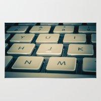 mac Area & Throw Rugs featuring Mac Keyboard by Mauricio Togawa